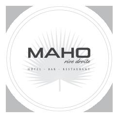 Logo Maho Rive droite | Hôtel - Bar - Restaurant - Jardin